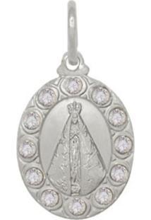 Pingente Prata Mil Nossa Senhora Aparecida Com Pedras Prata