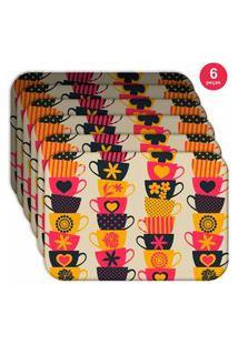 Jogo Americano Love Decor Wevans Xíraca Colorida Kit Com 6 Pçs