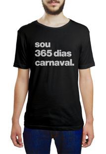 Camiseta Hunter 365 Dias Carnaval Preta