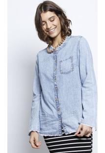 8c71986f10 ... Camisa Jeans Estonada- Azul Claro- Heringhering