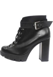 Bota Damannu Shoes Lilly Napa Feminina - Feminino-Preto