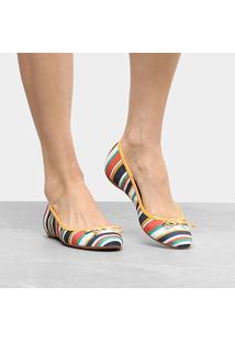 Sapatilha Shoestock Estampada Feminina - Feminino-Listrado