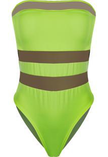 Body Outletdri Suplex Tomara Que Caia Detalhe Tule Triplo Frontal Verde Neon