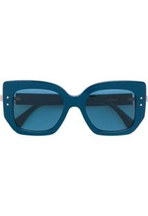 Fendi Eyewear Óculos De Sol Quadrado Oversized - Azul