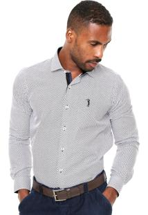 Camisa Aleatory Estampada Branca/Preta