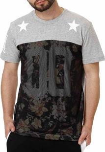 Camiseta Manga Curta Masculina Federal Art Cinza