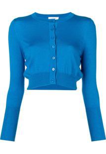 Snobby Sheep Cardigan Cropped - Azul