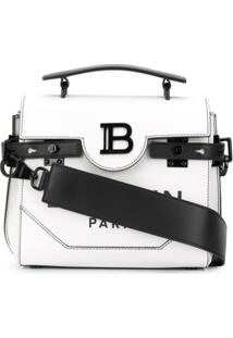 Balmain Bolsa Tiracolo B-Buzz 23 - Branco