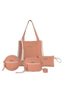 Bolsas Feminina Sacola Grande + Necessaire+ 2 Bolsas Pequenas Lançamento Iasmim Prado Varias Cores