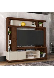 Estante Para Home Theater E Tv Até 65 Polegadas Imperium Havana E Off White