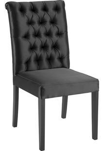 Cadeira Eli T1104 Com Capitonê-Daf Mobiliário - Preto
