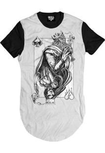 Camiseta Longline King And Queen Masculina - Masculino-Branco