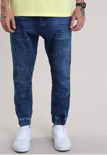 Calça Jeans Relaxed Azul Escuro
