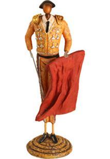 Escultura Decorativa De Resina Toureiro Iv