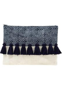 Bolsa Carteira / Clutch Sneak Peek Tassel Azul Marinho