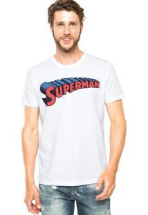 Camiseta Fashion Comics Superman Branca