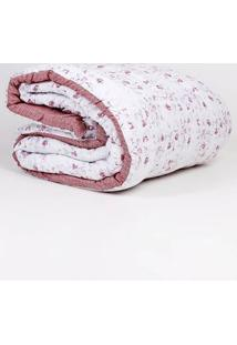 Edredom Queen Altenburg All Design Branco/Rosa