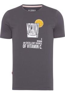 Camiseta Masculina Negroni - Cinza