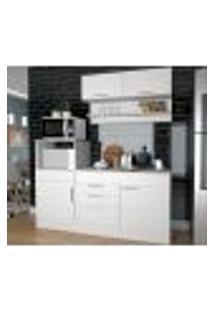 Cozinha Compacta 05 Portas Marajó Cj04 Branco Nova Mobile
