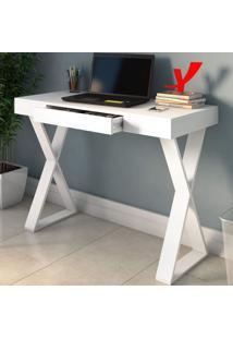 Mesa Escrivaninha Veneza Ii 1 Gaveta Branco - Artany