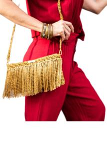 Bolsa Daniella Kolb Marilyn Dourada - Dourado - Feminino - Dafiti