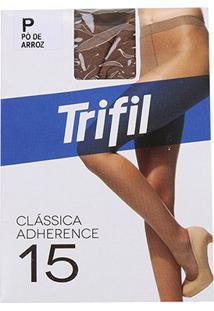 Meia Calça Trifil Adherence Fio 15 Feminina - Feminino-Nude