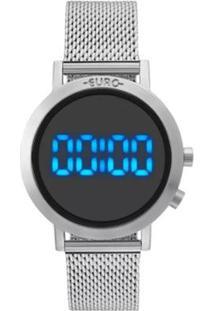 Relógio Feminino Euro Fashion Fit Eubj3407Ab/3P - Unissex-Prata