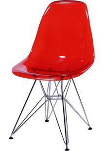 Cadeira Eames Dkr Or-1101Pc C/ Pés Cromados – Or Design - Vermelho
