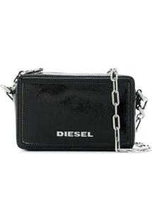 Diesel Bolsa Transversal Quadrada - Preto