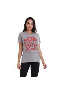Camiseta Jay Jay Basica The Rolling Stones Cinza Mescla Dtg
