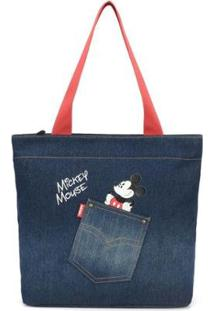 Bolsa Sacola Mickey Jeans - Feminino