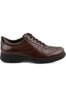 Sapato Casual Mr. Cat Flex System Masculino - Masculino-Marrom Escuro