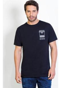 Camiseta Longline Com Estampa Costas
