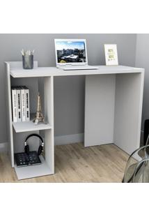 Mesa Escrivaninha Sense 1 Prateleira Branco - Appunto