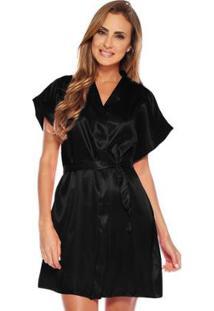 Robe Feminino Adulto Luna Cuore - Feminino-Preto