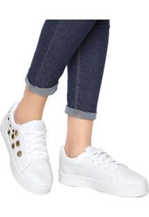 57a36c6906 ... Tênis Dafiti Shoes Ilhós Branco