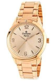 Relógio Feminino Champion Analógico Elegance - Cn26859Z - Feminino-Rose Gold