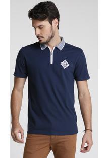 Camisa Polo Lisa Zíper
