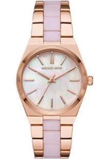 Relógio Michael Kors Channing Feminino - Feminino-Rosa