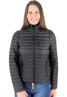 Jaqueta Feminina 2 Em 1 (Jaqueta E Colete) De Pluma Ultralight Alpine - Feminino-Preto