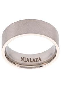 Nialaya Jewelry Anel De Aço Inoxidável - Cinza