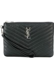 Saint Laurent Clutch 'Monogram' - Preto