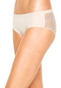 Calcinha Calvin Klein Underwear Caleçon Renda Bege