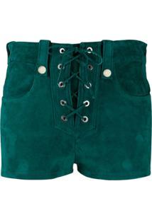 Manokhi Sapato De Camurça Com Cadarço - Verde