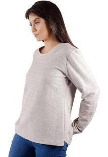 Blusa De Moletom Ecológica Animi Feminina - Feminino-Mescla