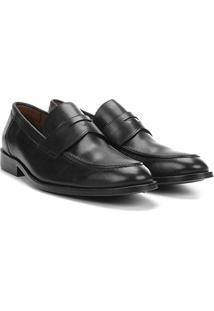 Sapato Social Couro Richards Office - Masculino-Preto