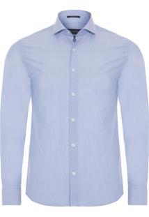 Camisa Masculina Fil A Fil - Azul