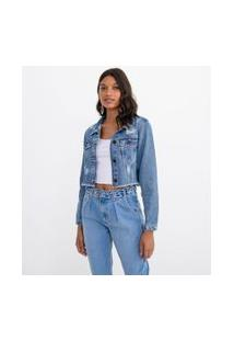 Jaqueta Jeans Cropped Lisa | Blue Steel | Azul | Pp
