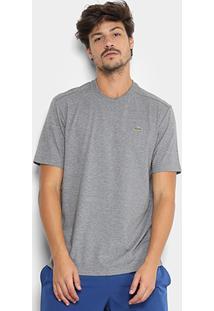 Camiseta Lacoste Gola Careca - Masculino-Chumbo