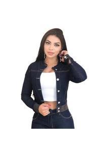Jaqueta Jeans Destmoda Amaciada Azul